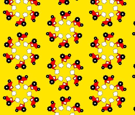 baby-tractor-1b fabric by koliori on Spoonflower - custom fabric