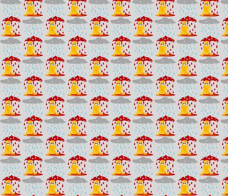 Rain fabric by ninjaauntsdesigns on Spoonflower - custom fabric