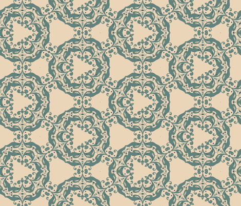 Swirl Teal fabric by captiveinflorida on Spoonflower - custom fabric