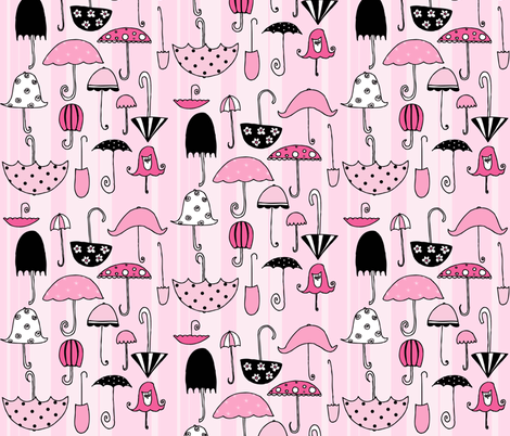 French Boutique Chic Umbrellas fabric by rebekah_sellers on Spoonflower - custom fabric