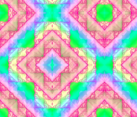 Bright Pastel Sierpinski fractal 8x8 fabric by missourah_gal on Spoonflower - custom fabric