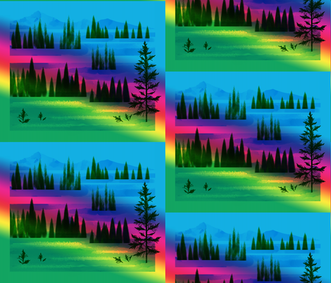 Mountain Magic fabric by art2art on Spoonflower - custom fabric