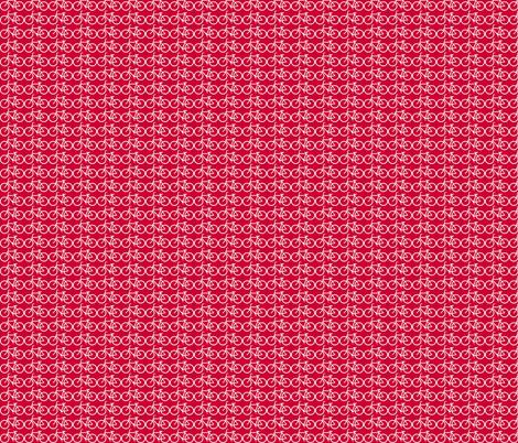 tinny red bicycle fabric by luluhoo on Spoonflower - custom fabric