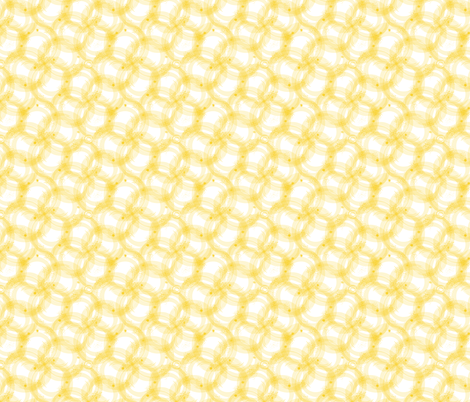 Ramba Waves in Yellow - © Lucinda Wei fabric by lucindawei on Spoonflower - custom fabric