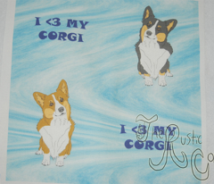 I <3 my Corgi- blue