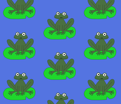 lily frog fabric by letterkdesigns on Spoonflower - custom fabric
