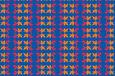 Starfish dance CitrusBlue-ch-ch-ch fabric by snazzyfrogs on Spoonflower - custom fabric