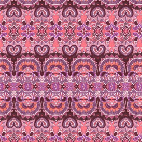 Deco Rated so Girlie Girl Pink (horizontal stripe) fabric by edsel2084 on Spoonflower - custom fabric