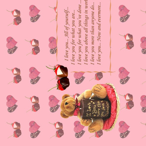 Valentine day's card and chocolates (in pink colorway)