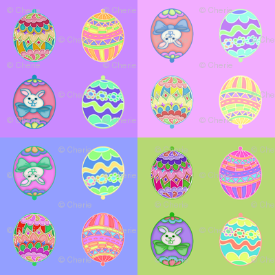 Easter Egg Ornies Squares