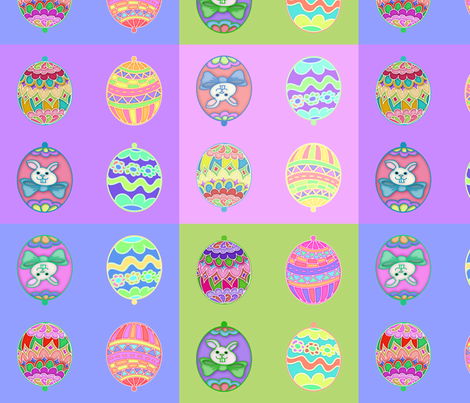 Easter Egg Ornies Squares fabric by cherie on Spoonflower - custom fabric