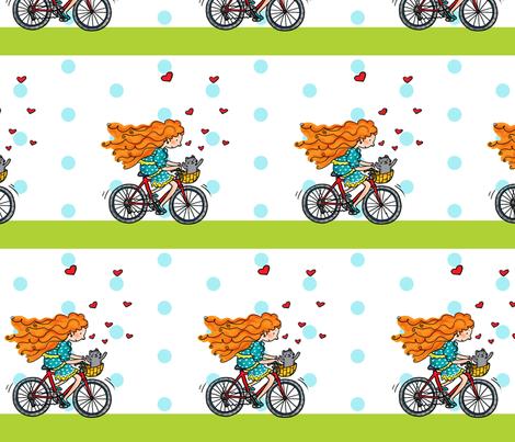 bicycle fabric by pinomino on Spoonflower - custom fabric