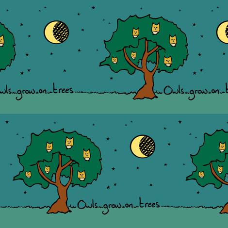 Owls Grow on Trees fabric by pond_ripple on Spoonflower - custom fabric