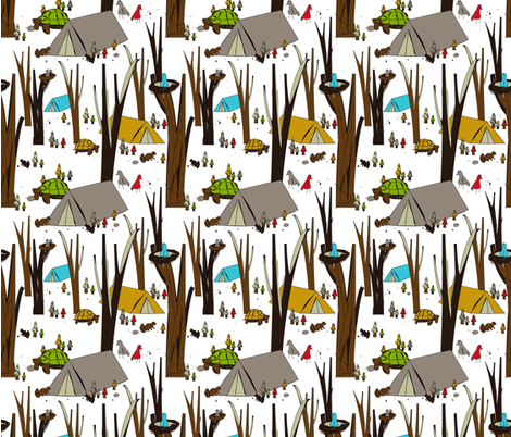 Forest Friends  fabric by theartistshouse on Spoonflower - custom fabric
