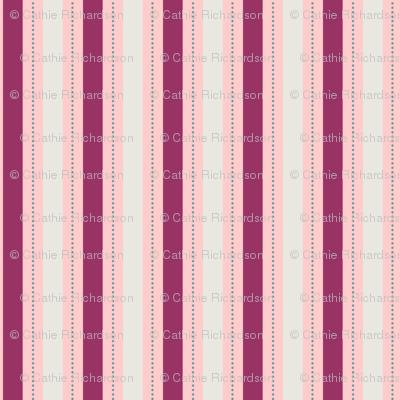 Burgundy Berry Stripe