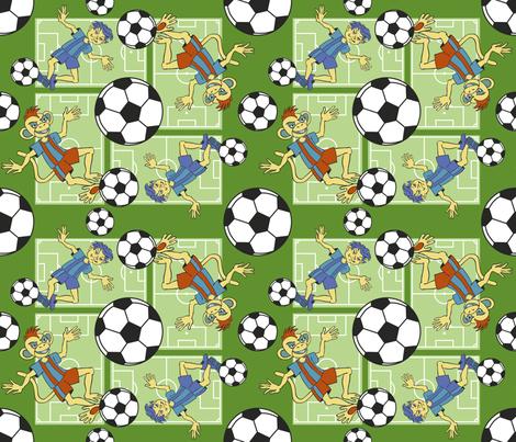 Soccer Monkey fabric by crowcreative on Spoonflower - custom fabric
