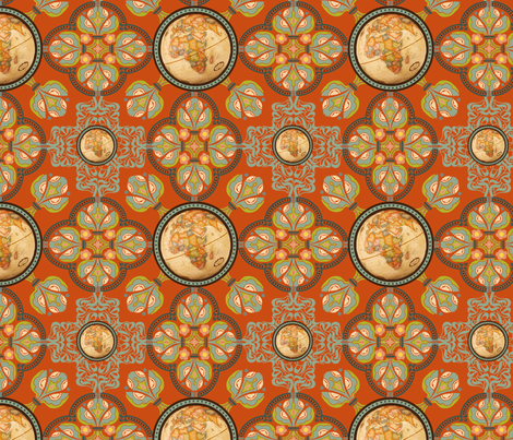 World Nouveau fabric by cksstudio80 on Spoonflower - custom fabric