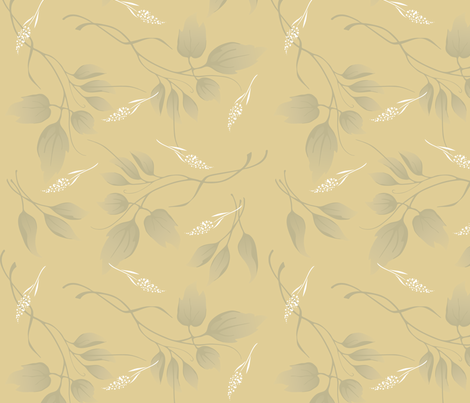 Leaf Shadows fabric by crowcreative on Spoonflower - custom fabric