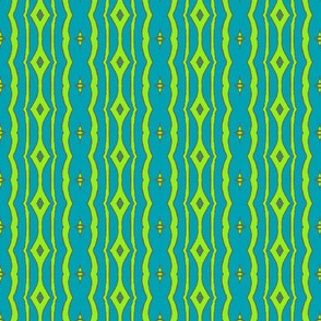 Peacock Stripe Blue/Green-ch