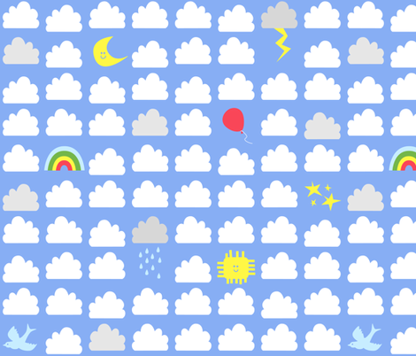 Cloudy Day fabric by flowerpress on Spoonflower - custom fabric