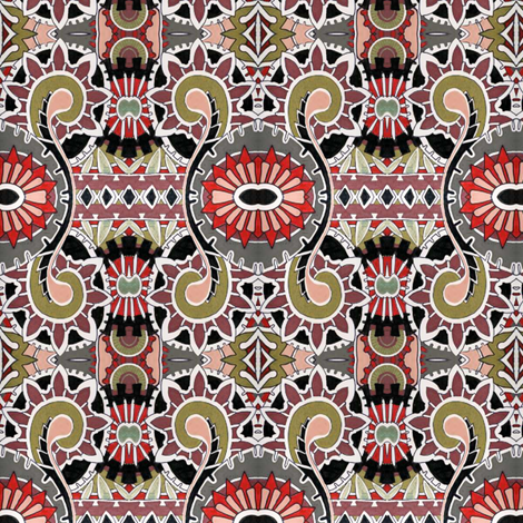 The Pharaoh's Tomb  fabric by edsel2084 on Spoonflower - custom fabric