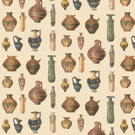 Don't Break the Tiny Pottery fabric by susaninparis on Spoonflower - custom fabric