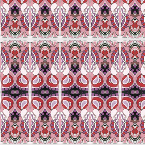 Be Still My Nouveau Heart fabric by edsel2084 on Spoonflower - custom fabric