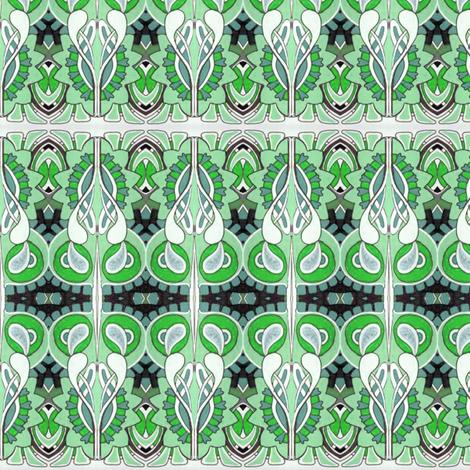 Nouveau Mint fabric by edsel2084 on Spoonflower - custom fabric