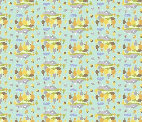 Mountain Scene fabric by katrinazerilli on Spoonflower - custom fabric