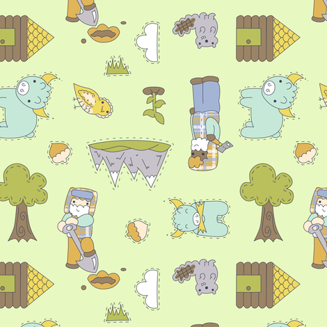 Lumberjack Friends fabric by katrinazerilli on Spoonflower - custom fabric