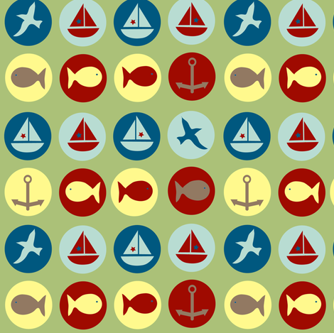 seaside dots fabric by krihem on Spoonflower - custom fabric