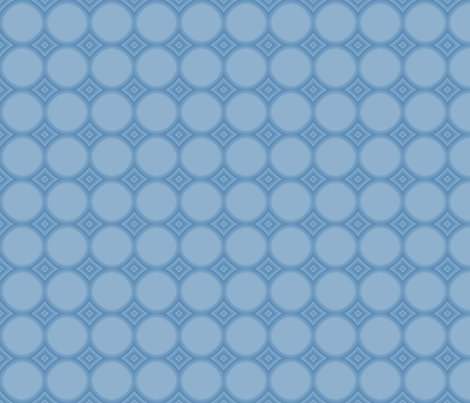 Spring Beauty Blue Circles © 2009 Gingezel™ Inc. fabric by gingezel on Spoonflower - custom fabric