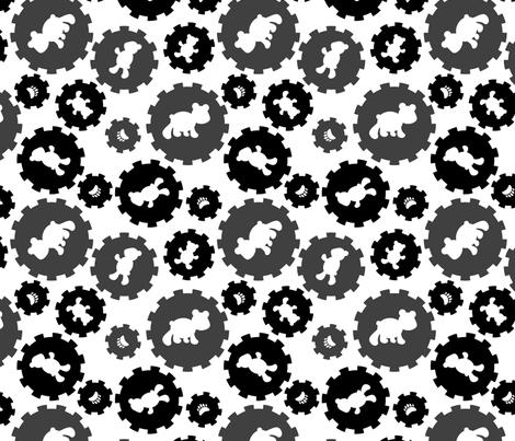 LaraGeorgine_Baby-Boy_Black&White fabric by larageorgine on Spoonflower - custom fabric