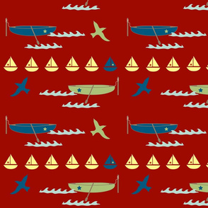 rowboats - red