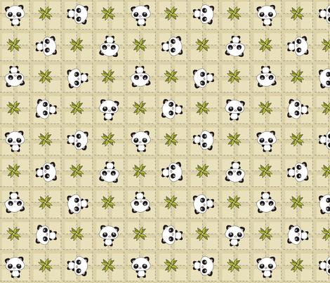 Pandamonium Plaid fabric by 2cutequilts on Spoonflower - custom fabric