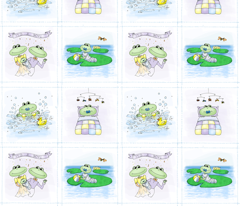 LdJ Design Project Selvage - Frogs Alive fabric by ldj_design on Spoonflower - custom fabric
