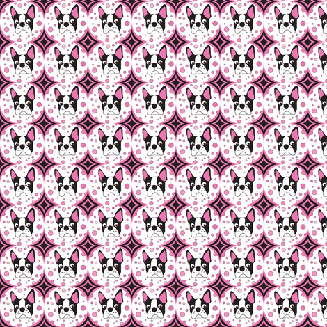 Super Tiny Spike the Boston Terrier  fabric by missyq on Spoonflower - custom fabric