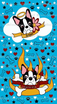 Tiny Devil or Angel Boston Terrier Print