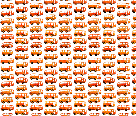 Orange Buses Going Forward fabric by fussypants on Spoonflower - custom fabric