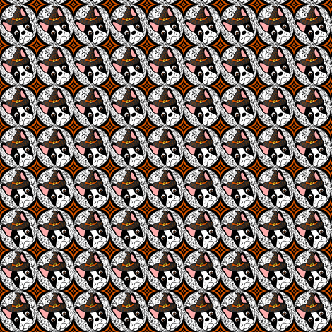 Tiny Witchypup the Boston Terrier  fabric by missyq on Spoonflower - custom fabric