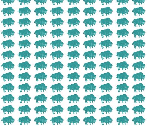 IMG_7247-3 Turquoise Buffalo fabric by bad_penny on Spoonflower - custom fabric