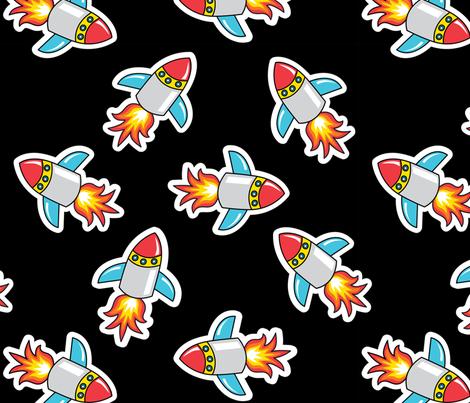 Rocket! fabric by tessiegirldesigns on Spoonflower - custom fabric