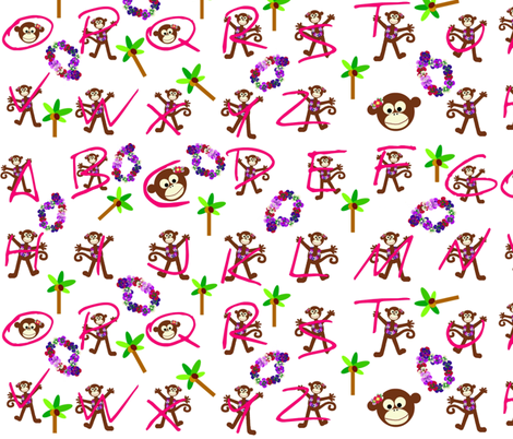 cooky luau / abc's fabric by paragonstudios on Spoonflower - custom fabric