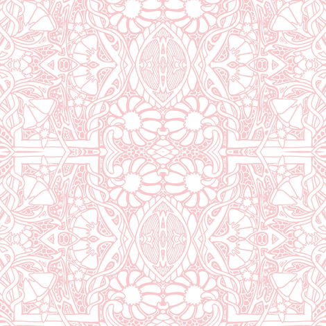 Palest Pink Lace Garden fabric by edsel2084 on Spoonflower - custom fabric