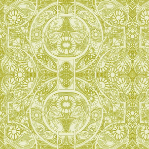 In a Victorian Lace Head Space (misty green)