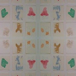 blind animal drawings watercolor