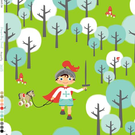 Dragon Boy Forest fabric by zesti on Spoonflower - custom fabric