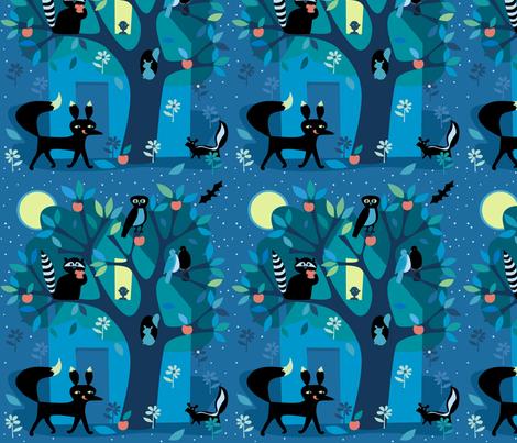 Good_Night fabric by antoniamanda on Spoonflower - custom fabric