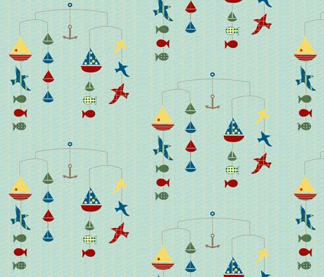 lakeside mobile fabric by krihem on Spoonflower - custom fabric
