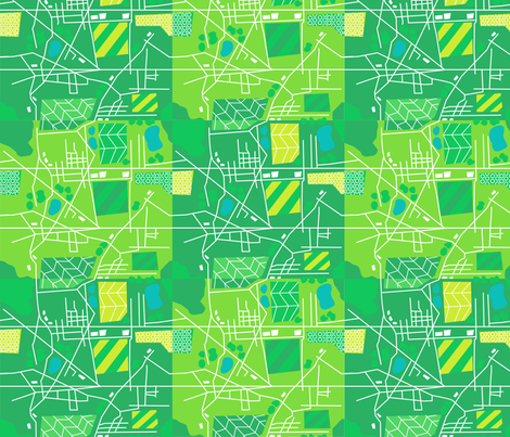 Midwest Patchwork Map fabric by acbeilke on Spoonflower - custom fabric